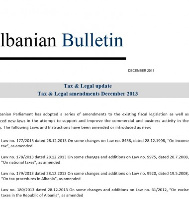 Tax and Legal December 2013