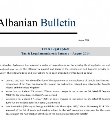 Tax and Legal August 2014